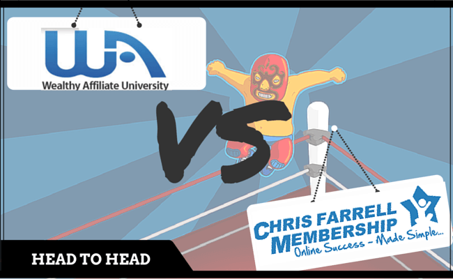 Wealthy Affiliate vs Chris Farrell Membership