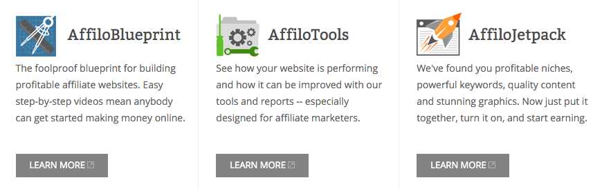 Affilorama product suite
