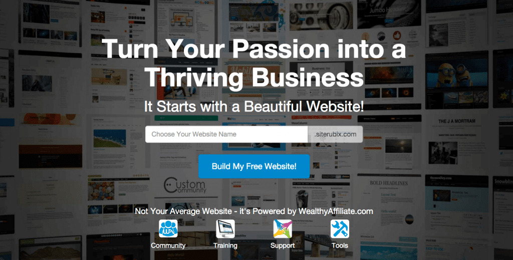 Build a website about your passion