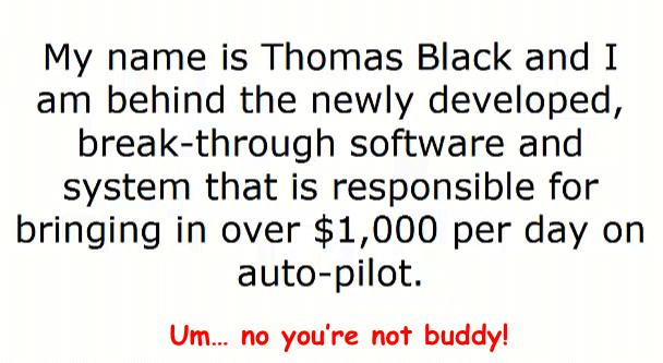 Thomas Black fake name