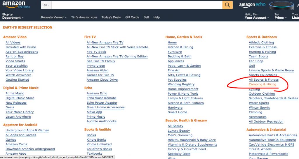 Amazon niche selection