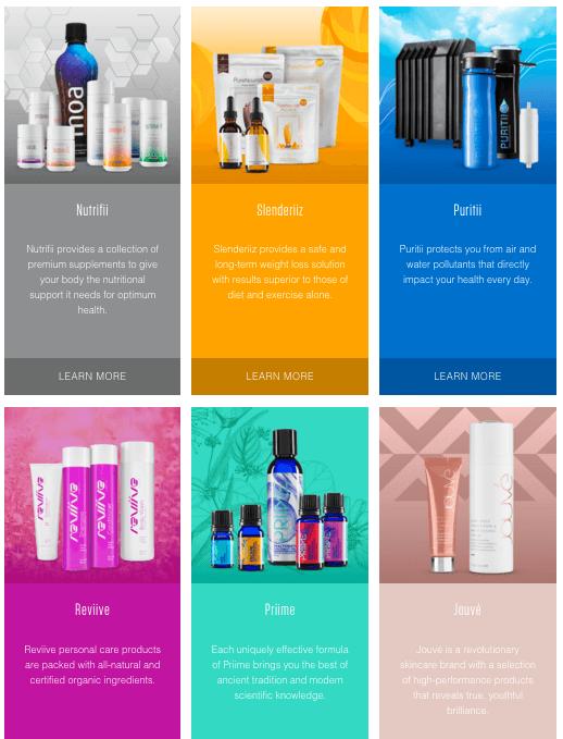 Main Product range