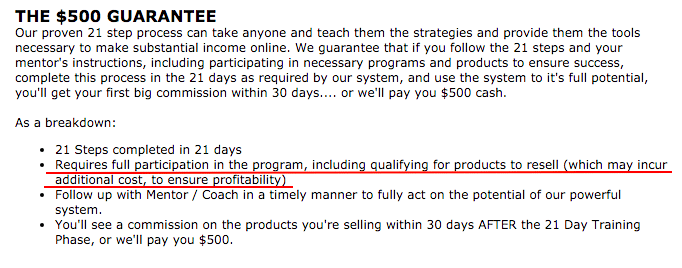 $500 guarantee is a scam