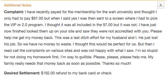 BBB complaint