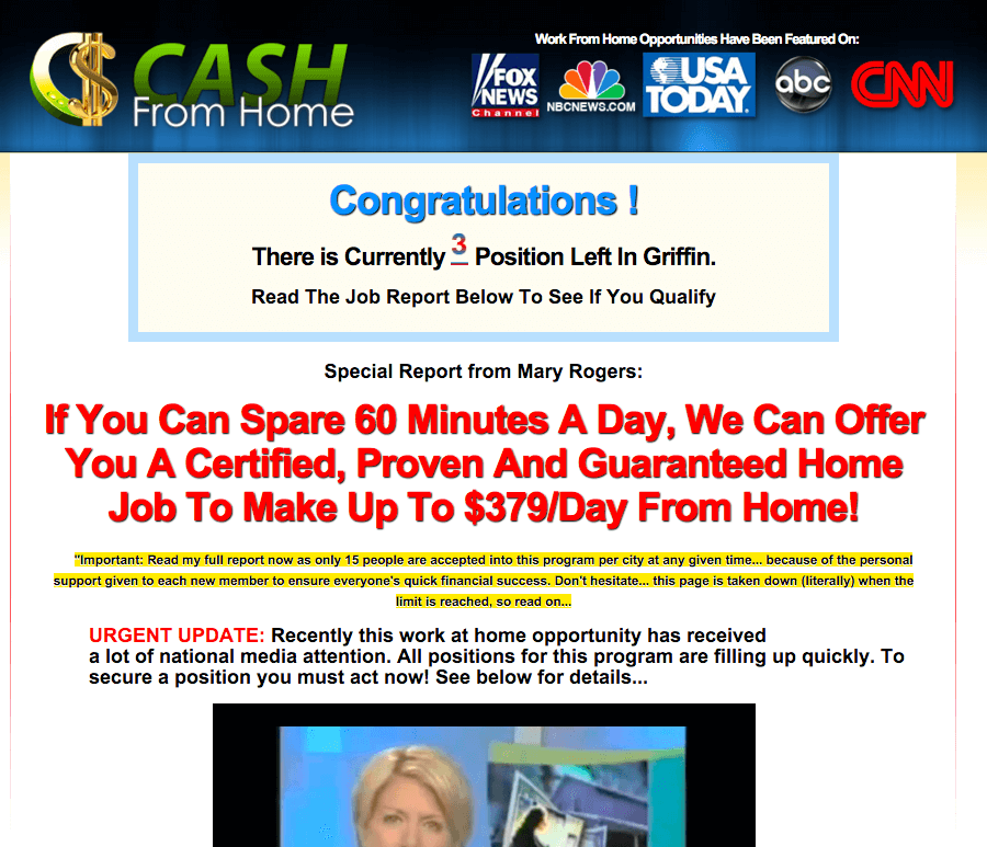 Home Based Job Scam