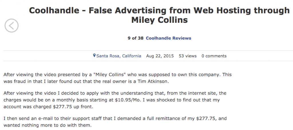 Coolhandle complaints