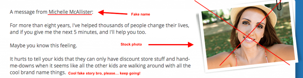 Fake alias and stock photography
