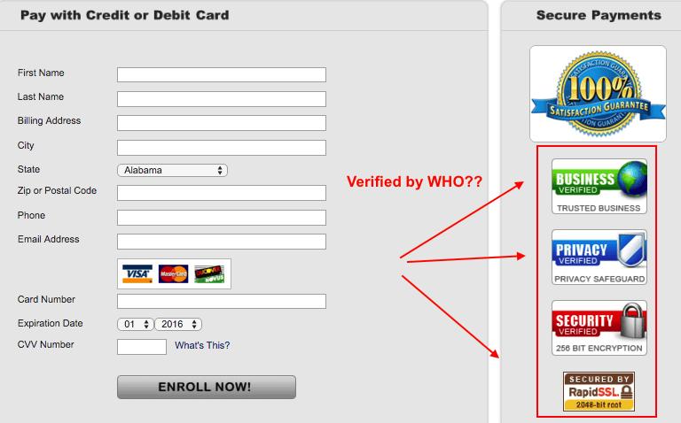 Fake verifications