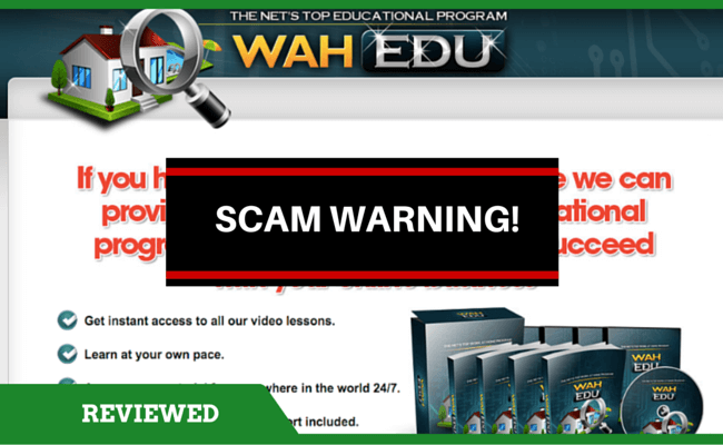 WAH EDU Scam
