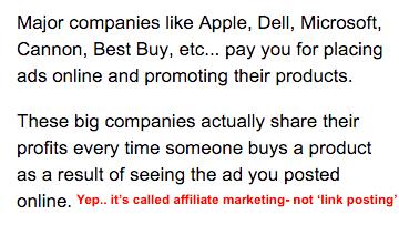 description of affiliate marketing