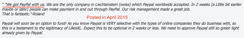 Claims acceptance with Paypal
