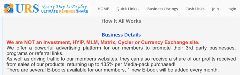 Company claims not an mlm or investment opportunity