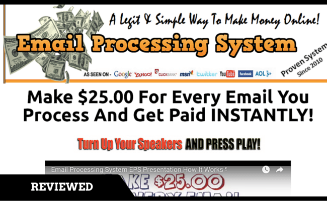 EPS Email Processing System Scam