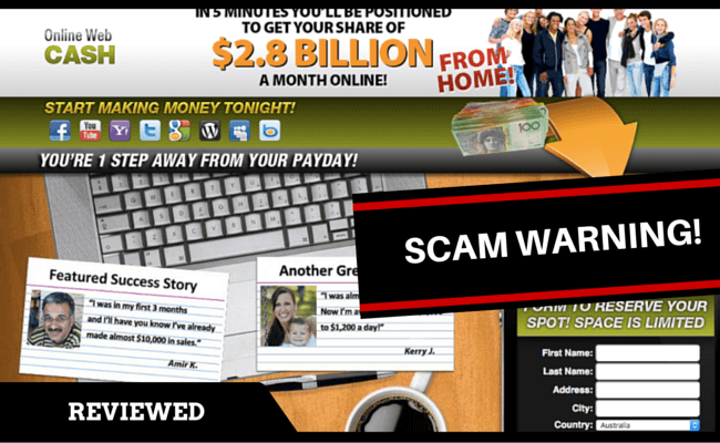 Online Web Cash Scam reviewed