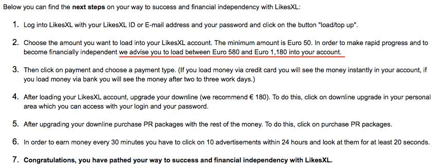 Steps to make money