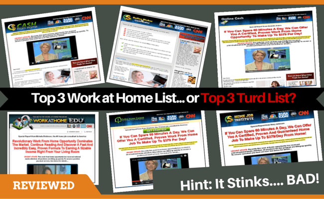 Top 3 Work at Home Scam by Sarah johnson