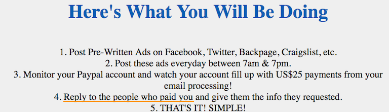Email Processing System Payments