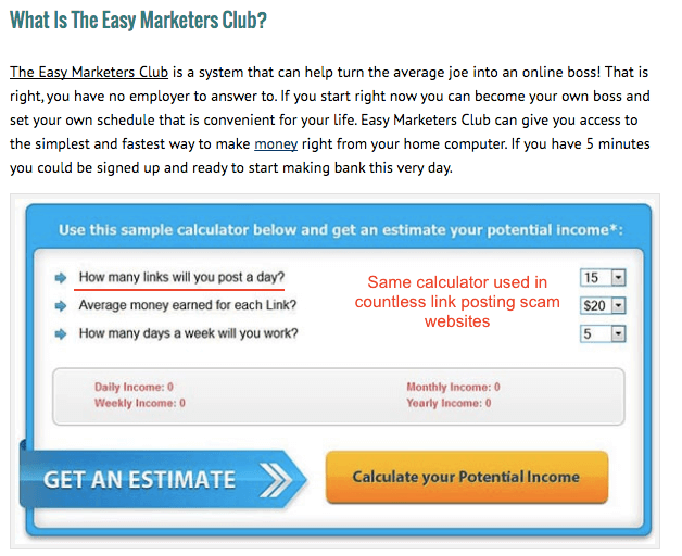 Associated with Link Posting scams