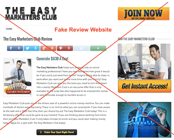 Fake Review Website