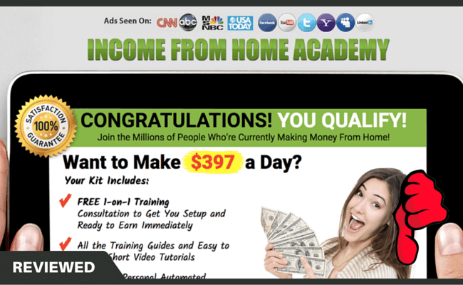 Income From Home Academy scam