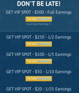 VIP member options