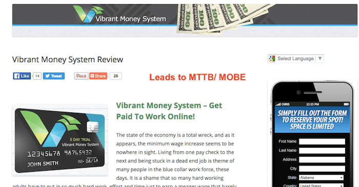 Vibrant Money System Scam