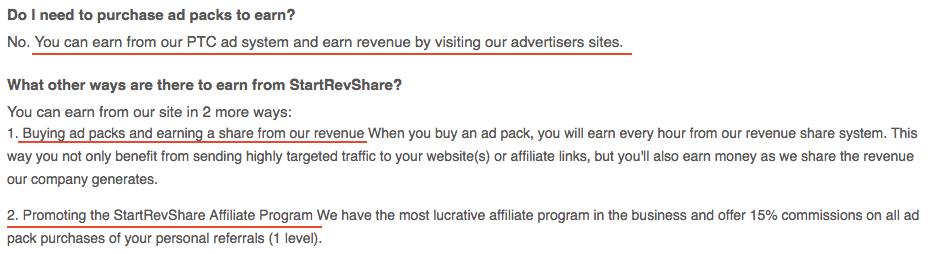 Ways to Earn Inside StartRevShare