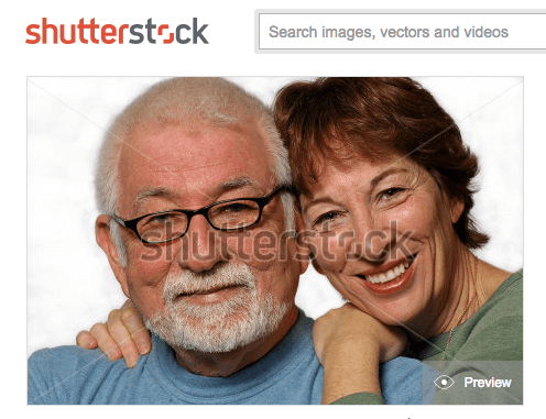 Shutterstock photo of same couple