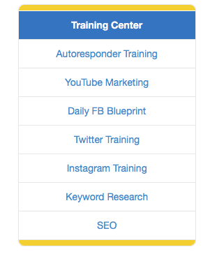 Training Center Tab