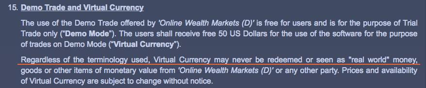 Virtual Money Disclosure
