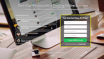 Wealthy Affiliate Website