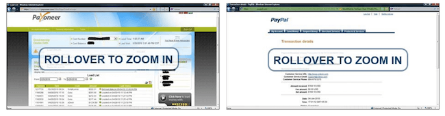 Unsubstantiated Payment proof