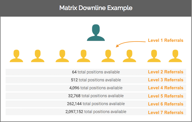 7x8 Matrix Downline