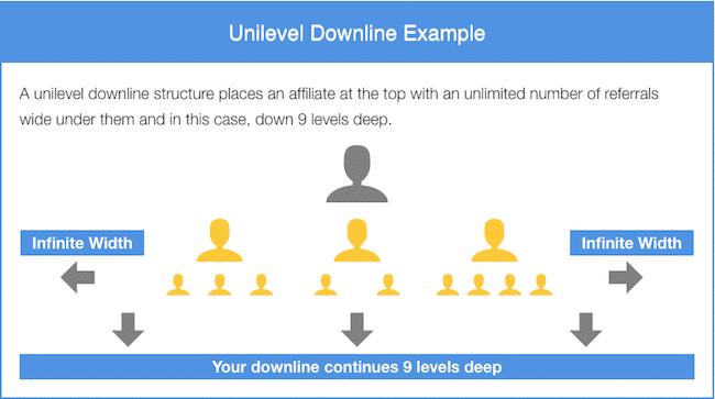 9 Level Unilevel Downline Example