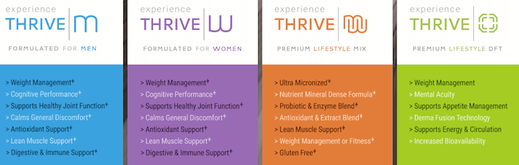 Thrive Experience Products