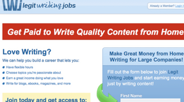 Legit Writing Jobs