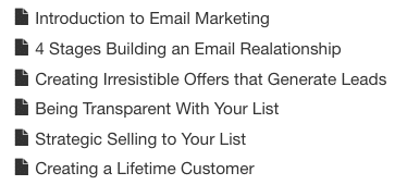 Email Marketing Class
