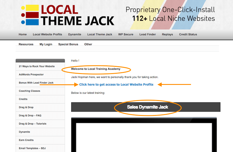 Local Website Profits Members Area