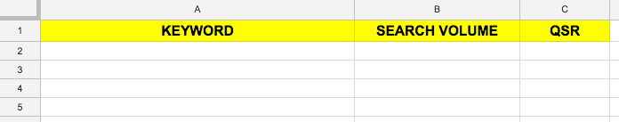 Google Docs Spreadsheet Template