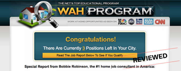 WAH Program Review: Legit Work At Home Opportunity or Scam?