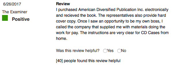 Positive Review ADP