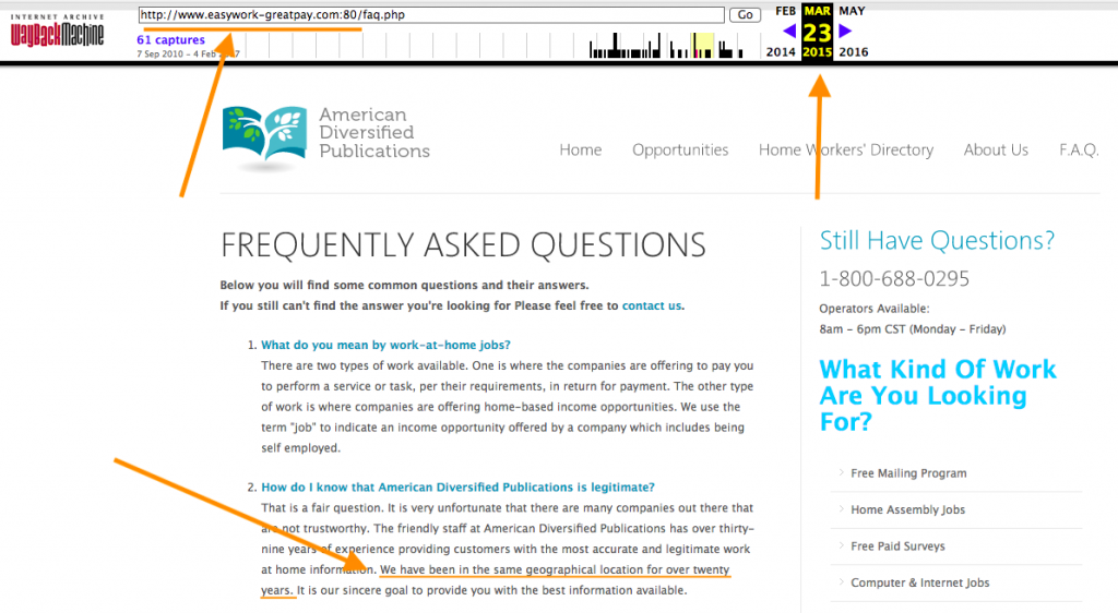 Web Archive FAQ Page ADP