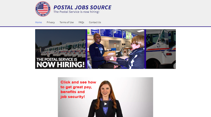 Postal Job Source Website