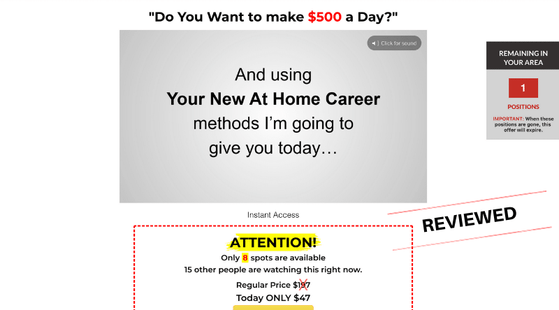 Your New At Home Career - Scam or Legit? [Review]