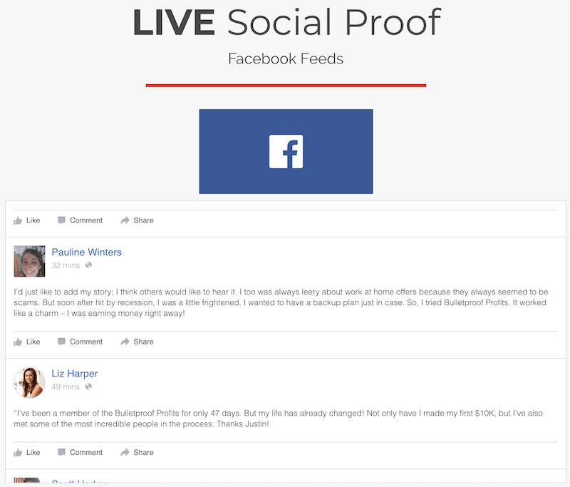 Fake Facebook Testimonials