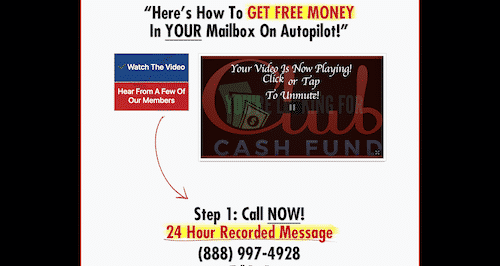clubcashfund.com website
