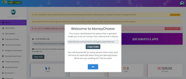 moneychaser.co Members Area