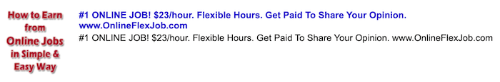 Fake job advertisement for OnlineFlexJob.com