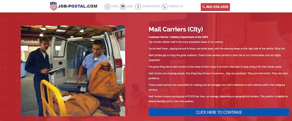 US Postal Service Jobs Page
