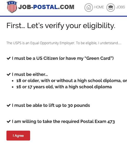 Verify Eligibility Page